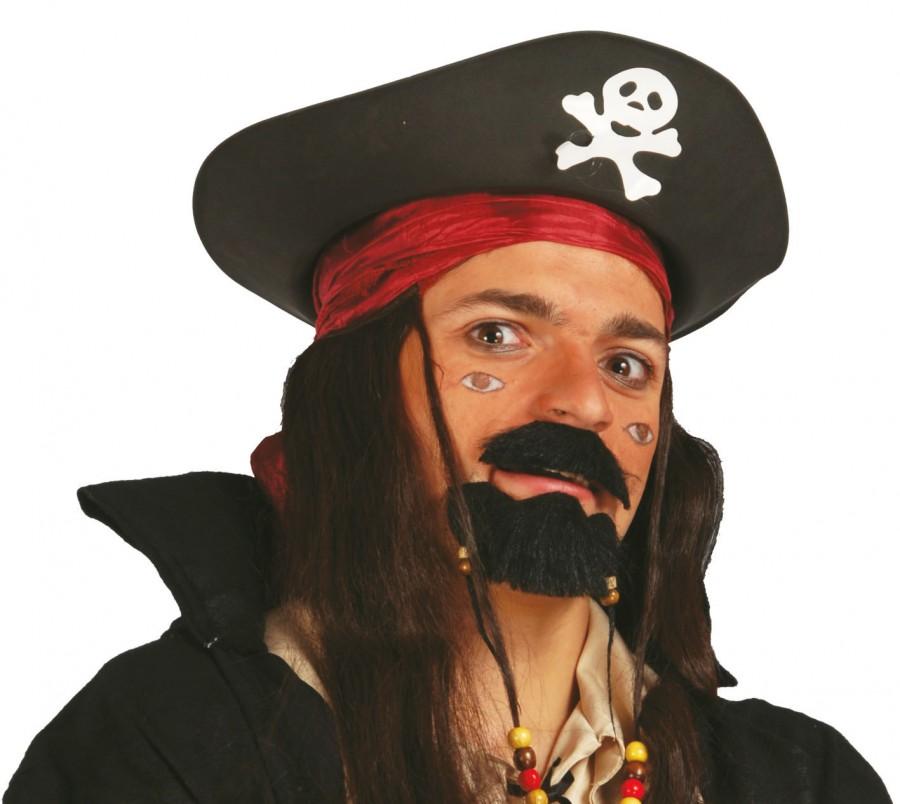 Gorro pirata goma eva negro adulto | Disfraces Teresa