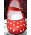 Zapato andaluza lunares